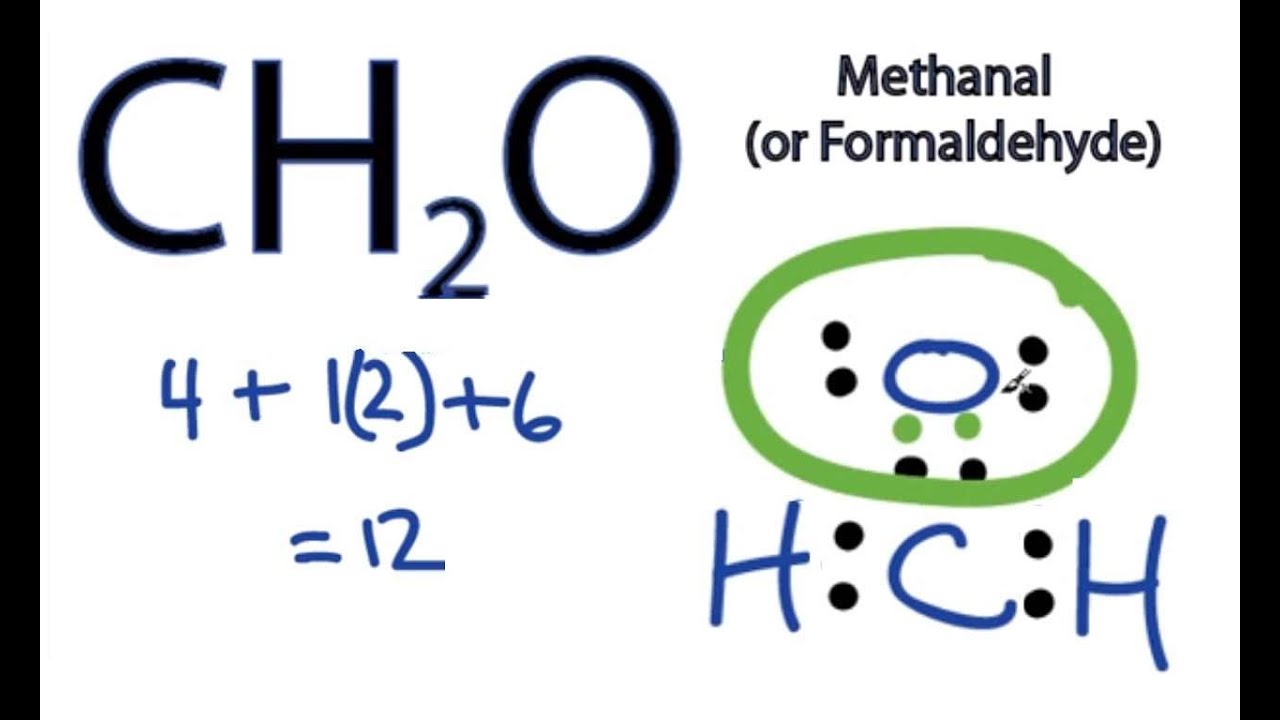medium resolution of ch2o lewis structure how to draw the dot structure for ch2o