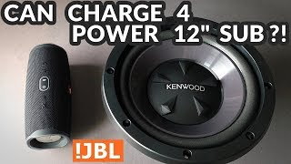 """JBL Charge 4 - Can It Power a 12"""" Subwoofer?!"""