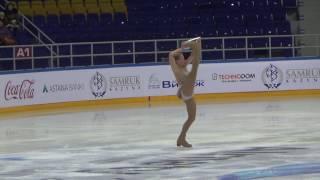 Дарья Сиротина.  Чемпионат РК по фигурному катанию 2017 года