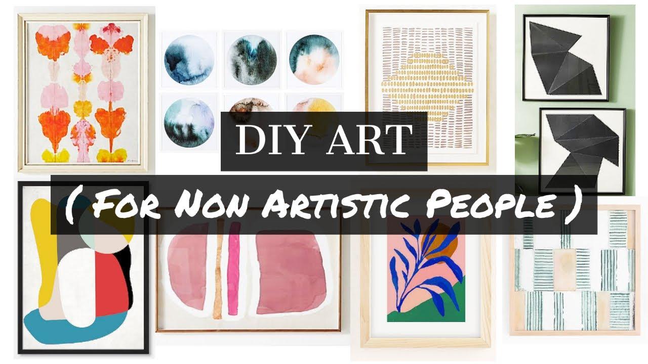 Gallery Wall Art Ideas // 20 DIY Art Ideas for People Who Aren't Artistic //  Easy DIY Art