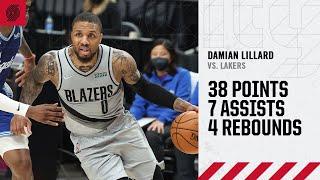Download Damian Lillard (38 PTS, 7 AST) Highlights   Trail Blazers vs. Lakers