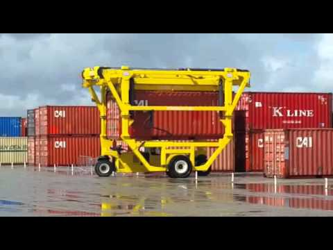 Combilift Straddle Carrier - on site terminal 800 containers on semi ground