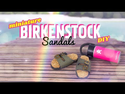 DIY - How to Make: Miniature Birkenstock Sandals 1:6th scale PLUS Magnets