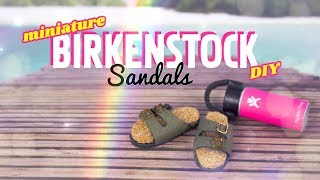 DIY - How to Make: Miniature Birkenstock Sandals 1/6th scale PLUS Magnets