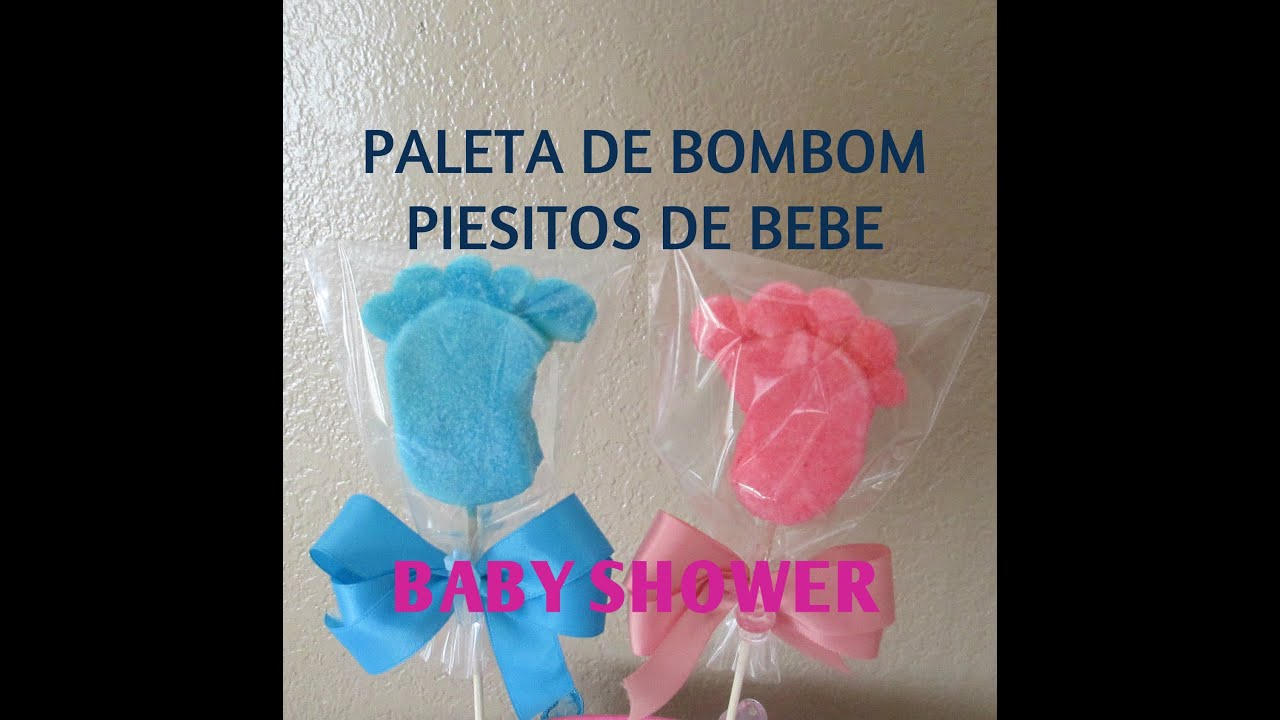 paleta de bombon piesitos de bebe baby shower tutorial madelin 39 s