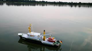 Robbe Norderney Absetzen vom Beiboot Möwe