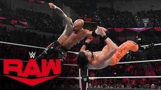 Ricochet vs. Andrade: Raw, Dec. 30, 2019
