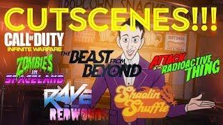 INFINITE WARFARE ALL CUTSCENES!! (DLC 1, 2, 3 & 4) SUPER EASTER EGG & WILLARD WYLER ENDING