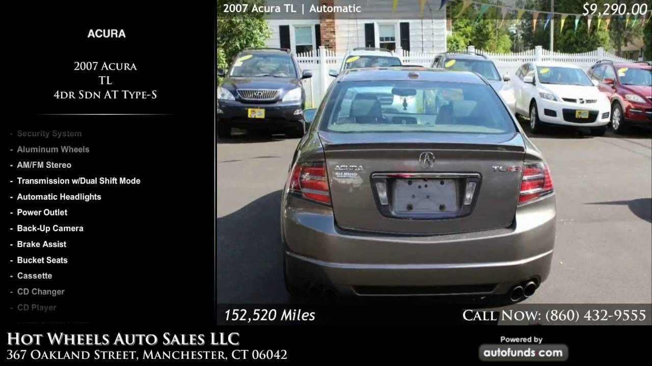 Used Acura TL Hot Wheels Auto Sales LLC Manchester CT - Acura tl for sale in ct