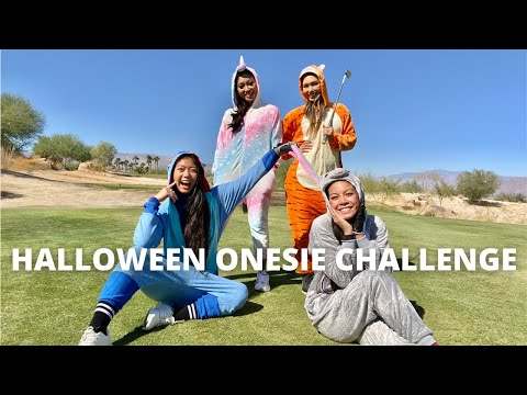 Onesie Golf Challenge ft Golf Sisters