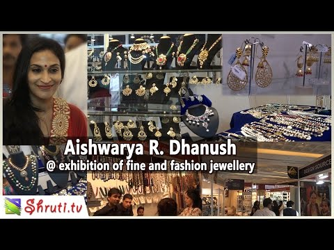 Aishwarya R. Dhanush visit 'Jewelled Treasures' - an exhibition of fine and fashion jewellery