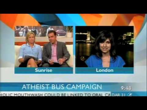Ariane Sherine on Sunrise - Atheist Bus Campaign