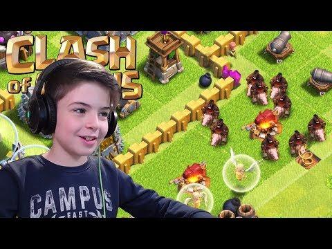 HOG RIDERS ATTACK! - Clash Of Clans