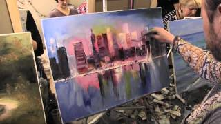 Город в розовых тонах, уроки рисования и живописи, Сахаров Игорь