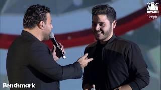 الفنان عاصي الحلاني يغني مع ابنه الوليد في موسم الرياض