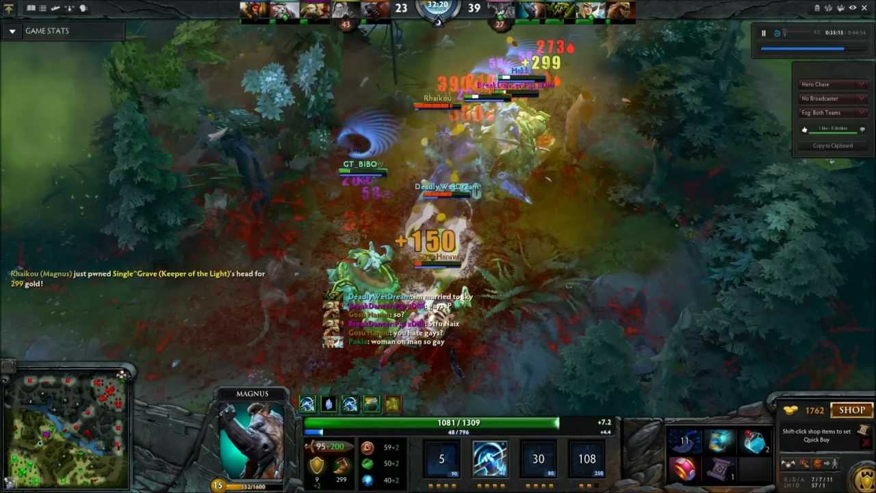 dat rp dota 2 magnus 5 man reverse polarity youtube