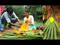 Village Kids Cooking & Tasting Toddy Palm Fruit  Cake in Palm Leaves - Amazing Indian Sweet Recipe