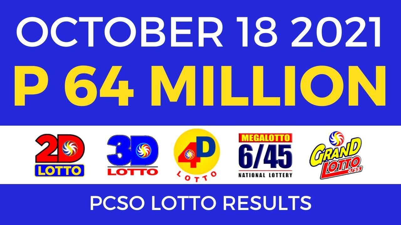 Lotto Result Today 9pm Oct 18 2021 [Complete Details]