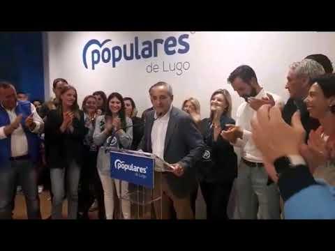 Ramón Carballo comparece tras ganar las elecciones en Lugo
