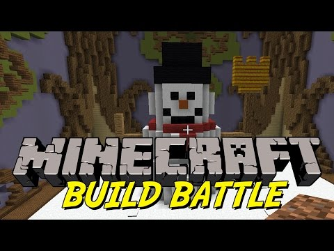 Minecraft | SEXY SNOWMAN | Team Build Battle Minigame på Svenska