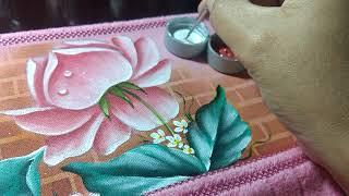 Aprenda pintar gotas d'água em folhas e rosas – Dicas pra iniciantes na pintura em tecido