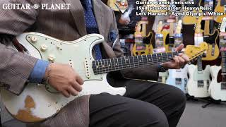 Guitar Planet Exclusive 1960 Stratocaster Heavy Relic Left Handed -Aged Olympic White-