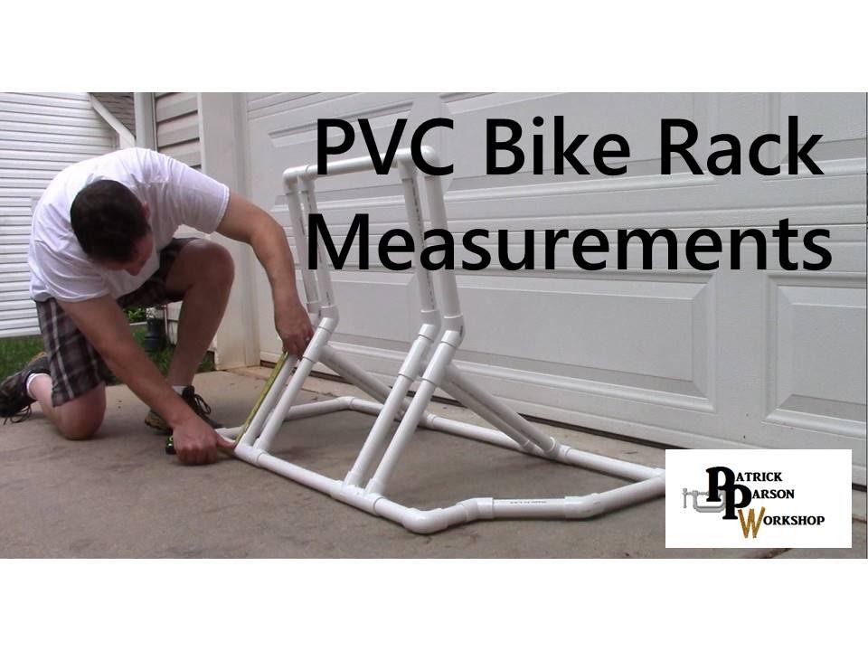 Pvc Bike Rack Measurements And Design Youtube