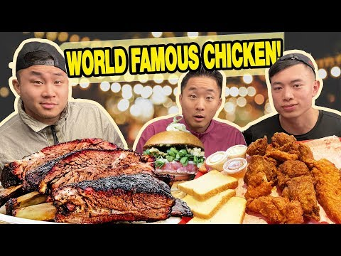 The BEST TEXAS BBQ, Fried Chicken, Burgers FOOD TOUR! - Austin, TX
