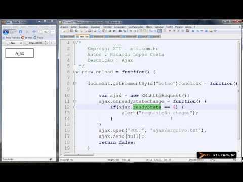 Universidade XTI - JavaScript - 45 - Ajax  Introdução E Acesso A TXT, HTML, XML
