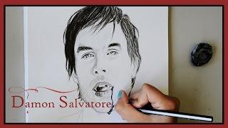 Speed drawing: Damon Salvatore   Ian Somerhalder