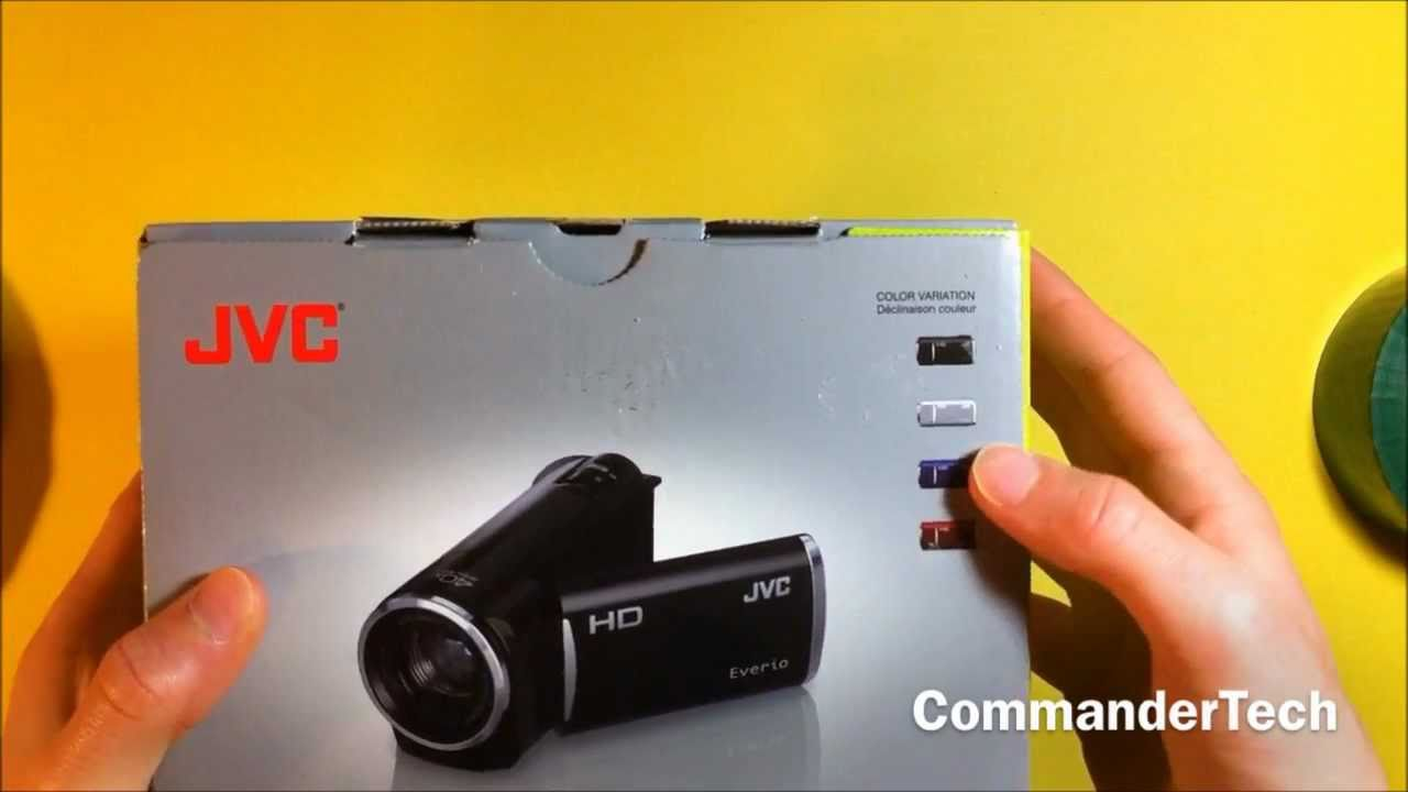 jvc hd flash camcorder gz hm30 unboxing youtube rh youtube com JVC Everio Manual GZ-MG630 JVC Everio HDD Manual