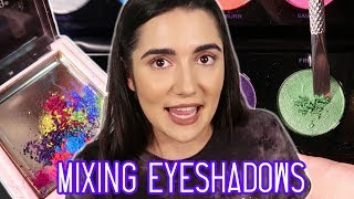 Mixing All My Eyeshadows Together thumbnail