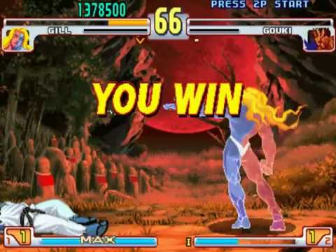 #87 Street Fighter III Third Strike Boss Hack (1/2): Gill playthrough.