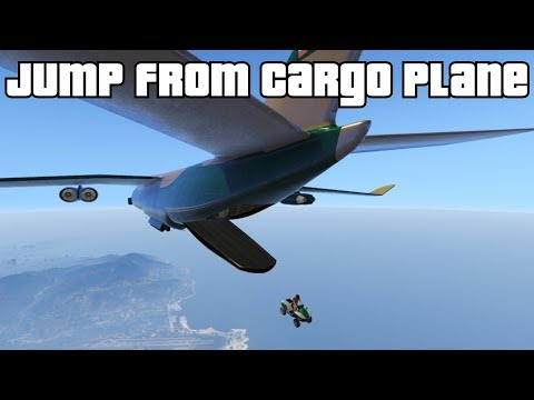 GTA 5 Online - Jump from Cargo Plane in a...