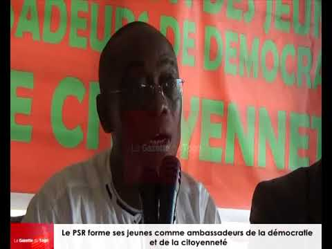 Formation des jeunes ambassadeurs de la démocratie et de la citoyenneté par le PSR