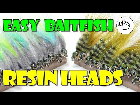 Easy Baitfish Resin Heads By Fly Fish Food