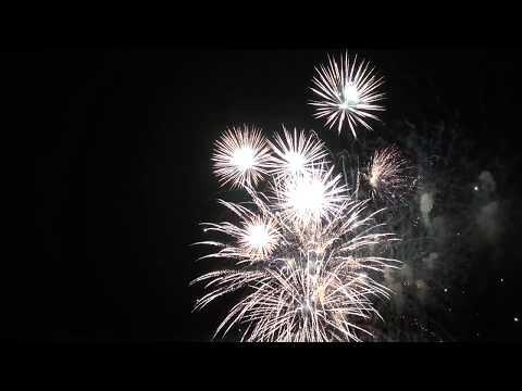 Sommerabend am Meer 2015 Cuxhaven Feuerwerk AIDAsol