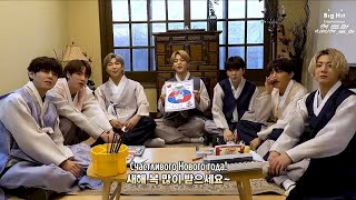 [RUS SUB][Рус.саб] Let's Make New Year Card - BTS (방탄소년단…