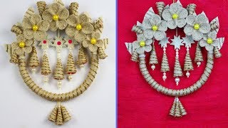 Easy and beautiful wall hanging with jute | Jute wall hanging making | Jute thread art