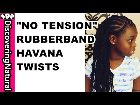"""No Tension"" Rubber Band Twists Havana Twists Protective Style 