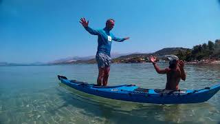 Our sea kayak day trip from Argostoli lighthouse Kefalonia August 2017