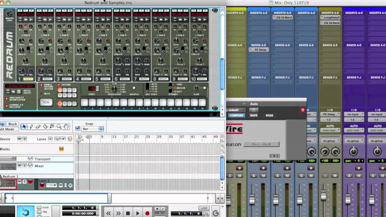 Advanced mixing with redrum (reason 5 record 1. 5 tutorial) youtube.