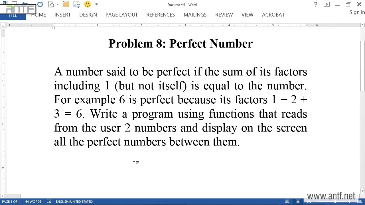 C# 409 - Perfect Numbers بالعربية (Dr. ANTF) - YouTube