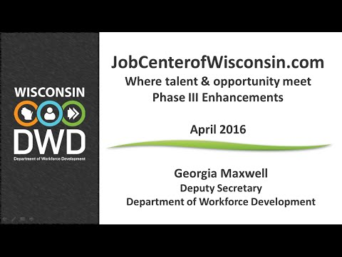 DWD Rolls Out Phase 3 of JobCenterofWisconsin.com