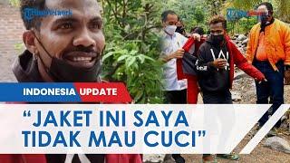 Pria di NTT Dapat Jaket Merah yang Dipakai Jokowi: Saya Tidak Mau Cuci