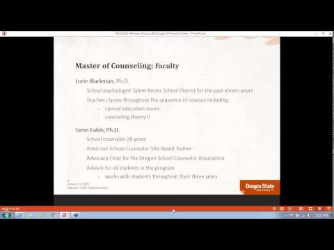 2015- Oregon State University's Master of Counseling online