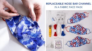How to Make a Face Mask with a Replaceable Nose Bar a Shabby Fabrics Tutorial