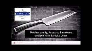 Mobile app analysis with Santoku Linux - Andrew Hoog