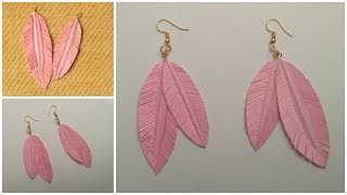 How to make Paper Feather Earrings Easily At Home | Feather Earrings Making | Feather Earrings DIY |