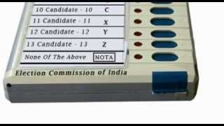 NOTA None of the above vote India
